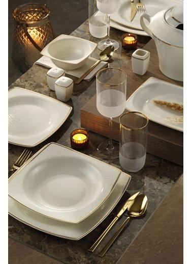 Kütahya Porselen Kütahya Porselen Bone Mare 62 Parça Yemek Takımı 10743 Altın Renkli